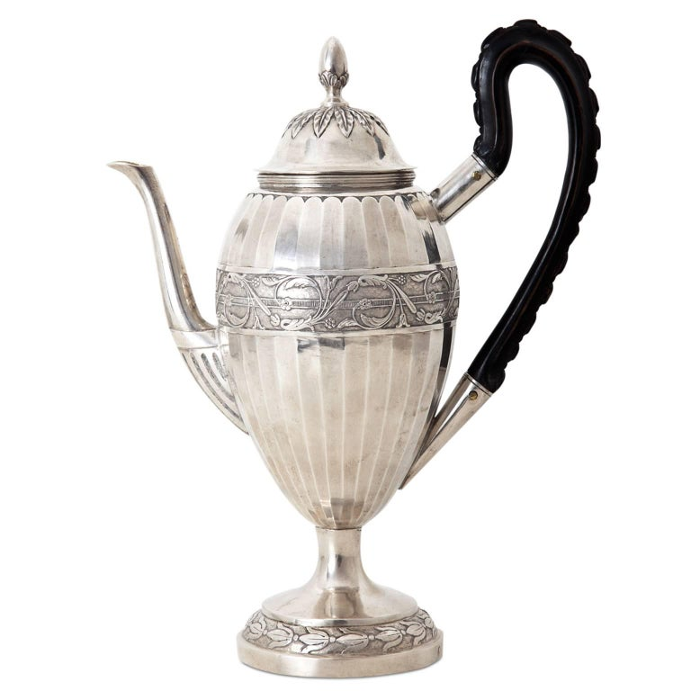 Neoclassical Coffee Pot, Augsburg, 1807-1809 For Sale