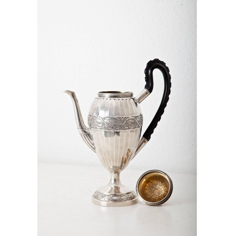 Neoclassical Coffee Pot, Augsburg, 1807-1809 For Sale 1