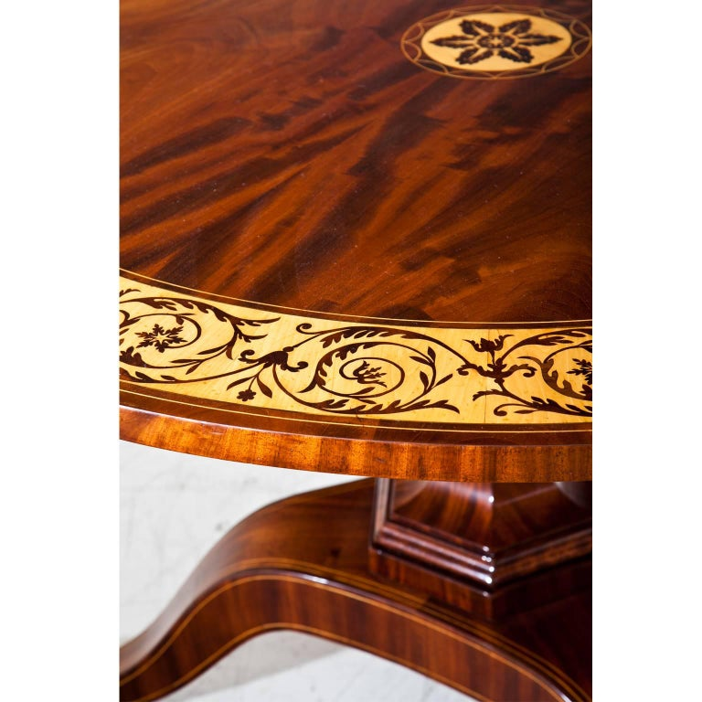 Mid-19th Century Biedermeier Salon Table, Saxony, 1830s For Sale