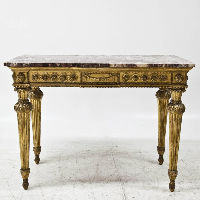 Louis XVI Louis Seize Console Table, 18th Century For Sale