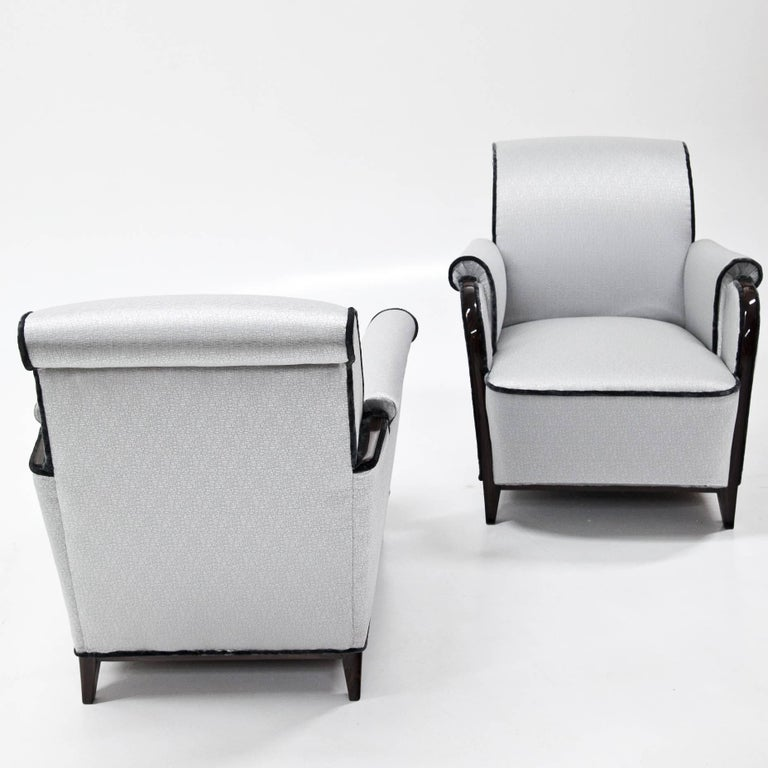 Art Deco Lounge Chairs, France, 1920s For Sale 1