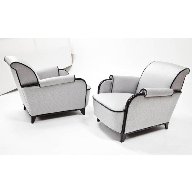 Art Deco Lounge Chairs, France, 1920s For Sale 2