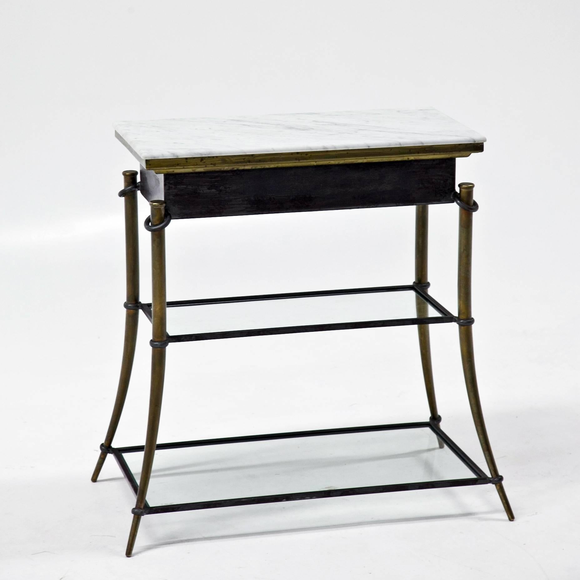 Mid Century Modern Small Console Table, Italy, Mid 20th Century For Sale