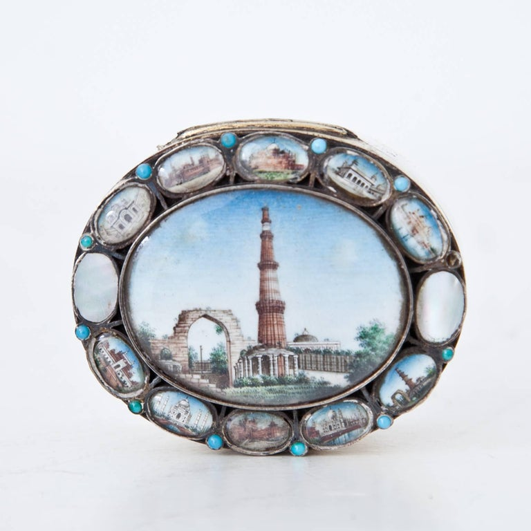 Indian Silver Box, 19th Century In Excellent Condition For Sale In Greding, DE