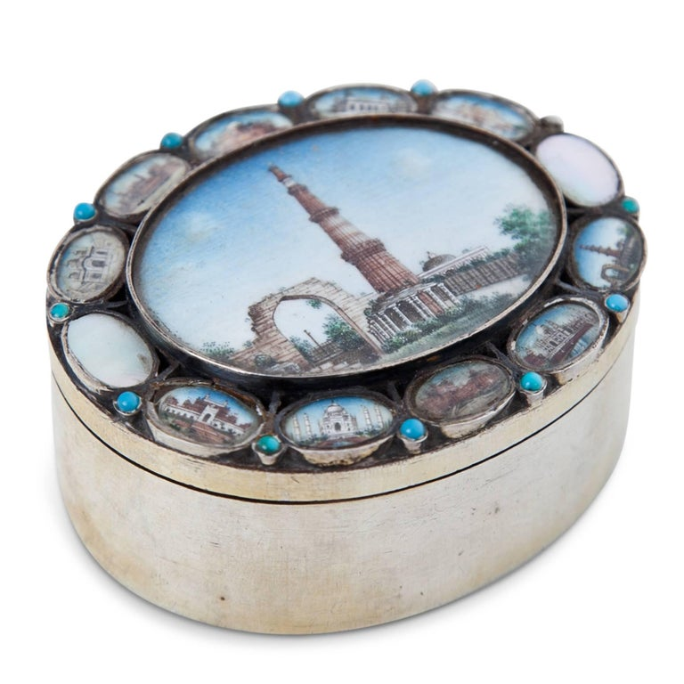 Indian Silver Box, 19th Century For Sale 2