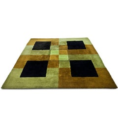 Square Rug, Probably Italy 1970s