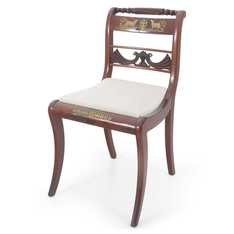 Set of eight dining room chairs and armchairs northern