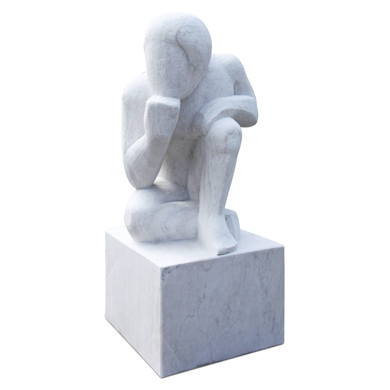 Thinker, Marble Sculpture, 21st Century