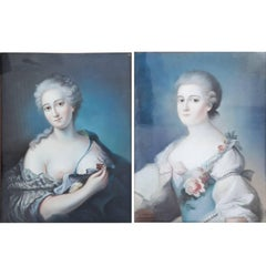 Portraits of Two Ladies, Second Half of the 18th Century