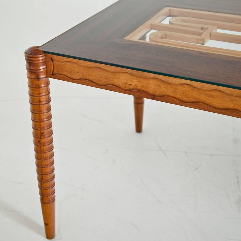 Glass Dining Table, Italy Mid-20th Century For Sale