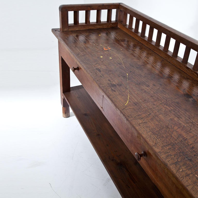 Spruce Workbench, circa 1900 For Sale