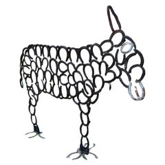 Iron Sculpture of a Donkey, 20th Century