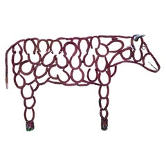 Iron Sculpture of a Cow, 20th Century