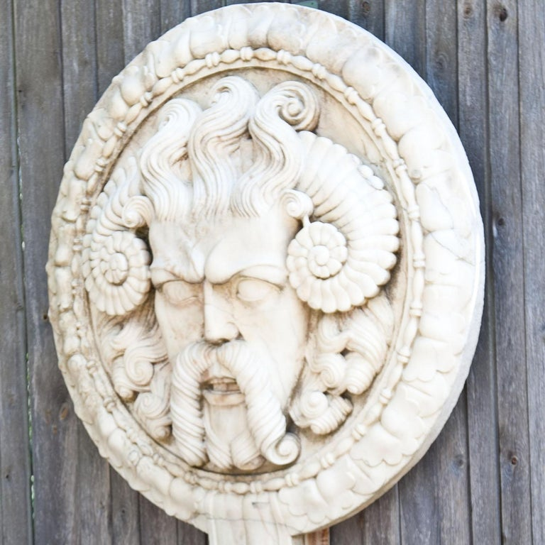 Hand-Carved Marble Wall Relief, Italy, 21st Century For Sale