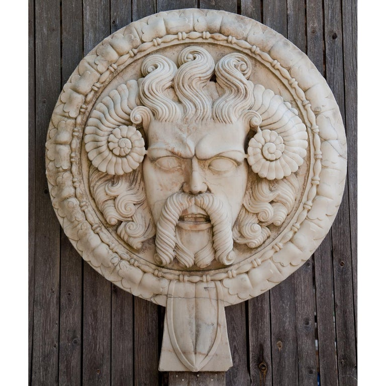 Neoclassical Marble Wall Relief, Italy, 21st Century For Sale