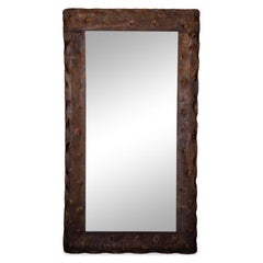 Brutalist Wall Mirror, Probably Italy 20th Century