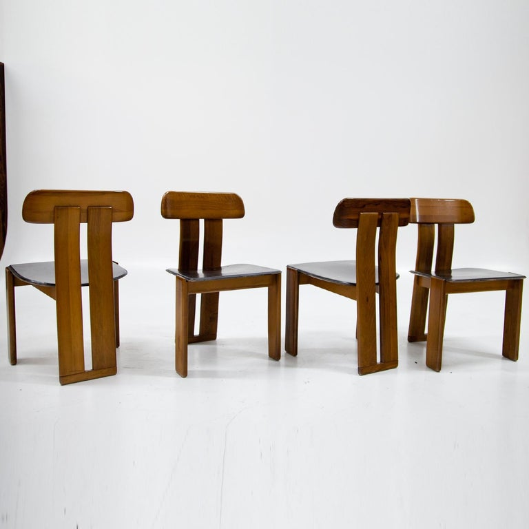 Four Chairs, Attributed to Afra & Tobia Scarpa for Maxalto, Italy, 1970s In Good Condition For Sale In Greding, DE