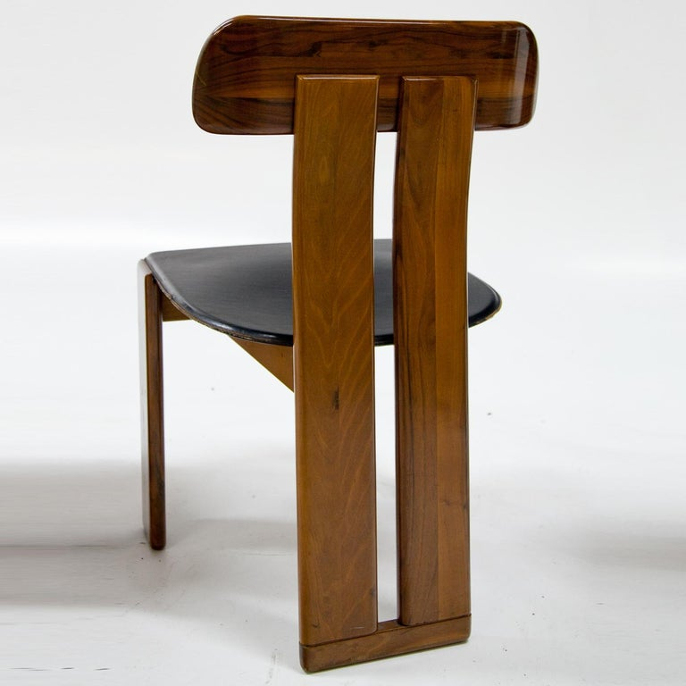 Late 20th Century Four Chairs, Attributed to Afra & Tobia Scarpa for Maxalto, Italy, 1970s For Sale