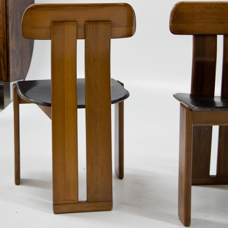 Italian Four Chairs, Attributed to Afra & Tobia Scarpa for Maxalto, Italy, 1970s For Sale