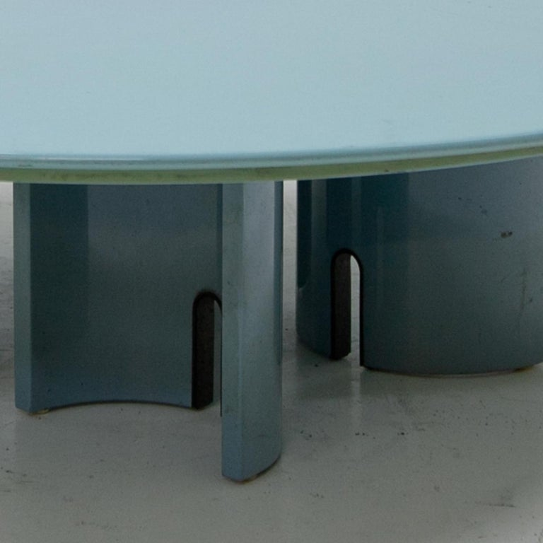 Mid-Century Modern Coffee Table by Giovanni Offredi for Saporiti, Italy, 1980s For Sale