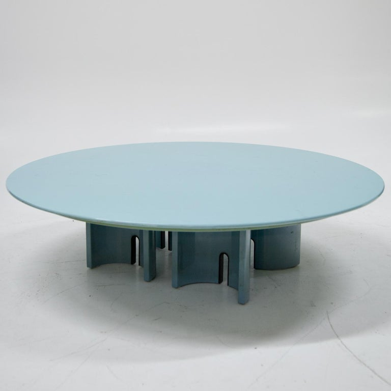 Coffee Table by Giovanni Offredi for Saporiti, Italy, 1980s For Sale 1