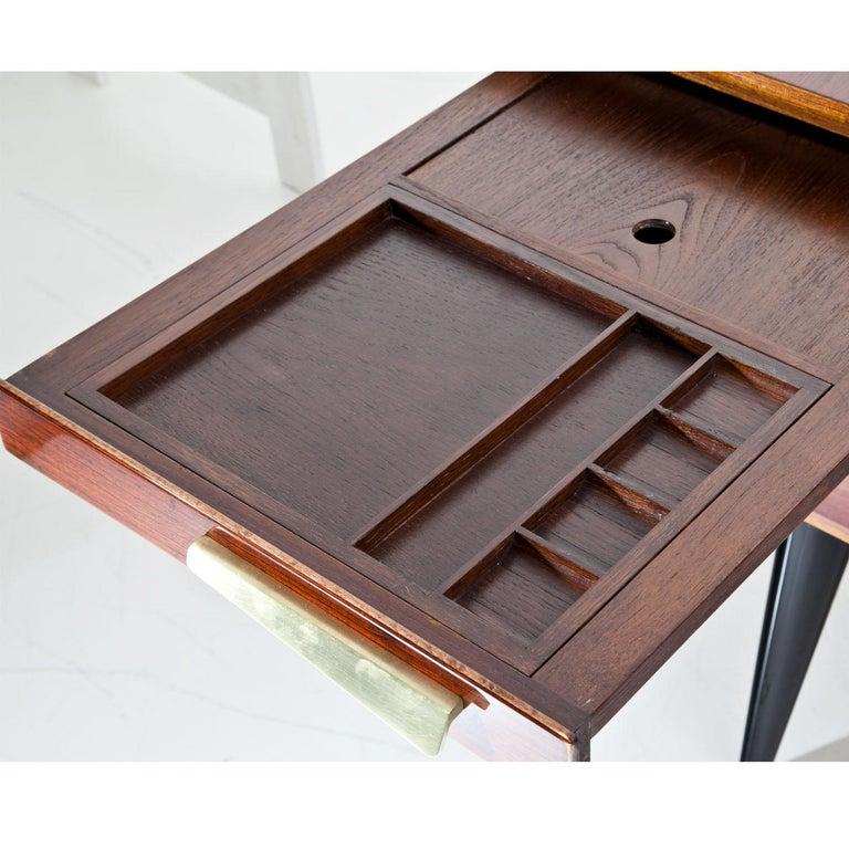 Mid-Century Modern Executive Desk by Hadar Schmidt, 1950s-1960s For Sale