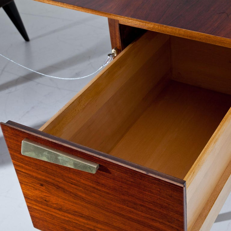 Scandinavian Executive Desk by Hadar Schmidt, 1950s-1960s For Sale
