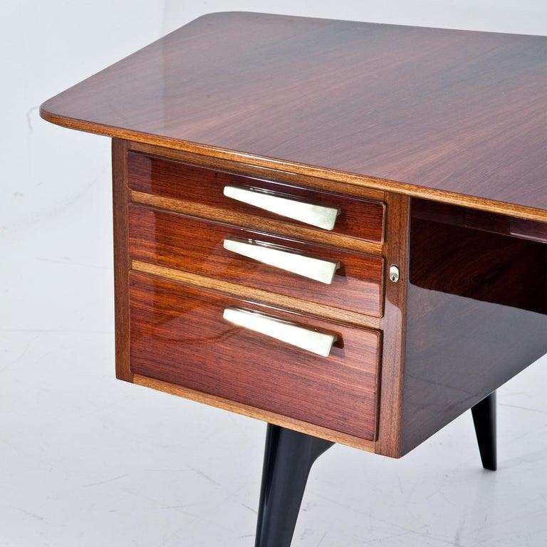 Mid-20th Century Executive Desk by Hadar Schmidt, 1950s-1960s For Sale