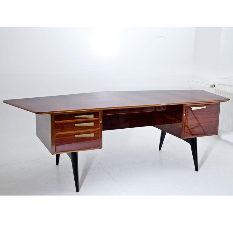 Executive Desk by Hadar Schmidt, 1950s-1960s For Sale 2
