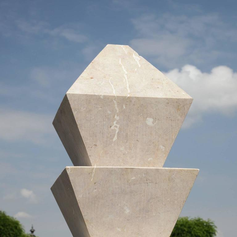 Art Deco Modern Marble Fountain, 21th Century For Sale