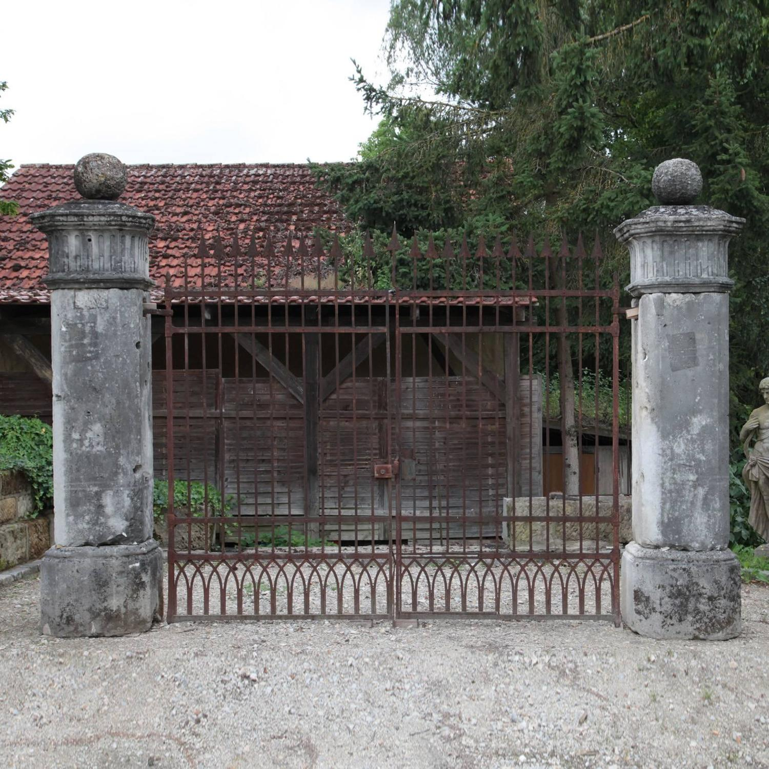 Antique gate with columns th century for sale at stdibs