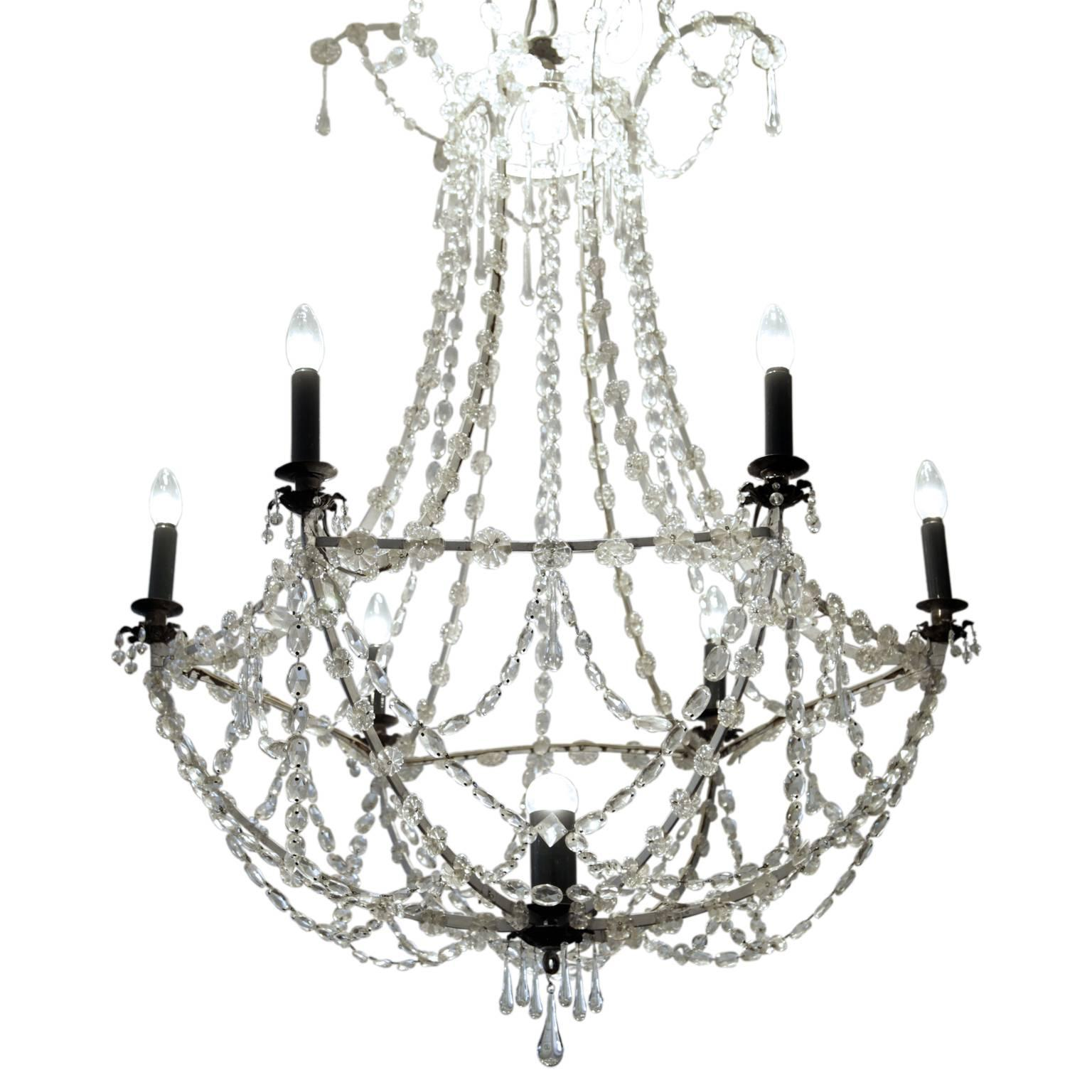 Seven-Light Chandelier, First Half of the 19th Century