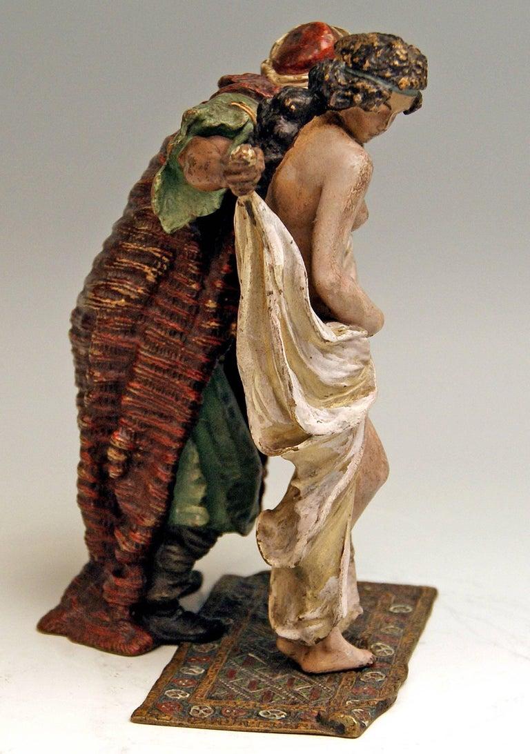 Vienna Bergman(N) Bronze Slave Trader Female Nude with