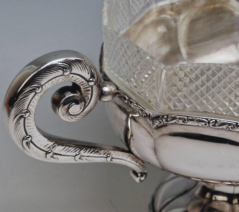 Art Nouveau Silver 800 Flower Bowl Jardiniere Vienna Diana Head Mark, circa 1900 For Sale