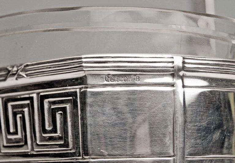 Silver 800 Flower Bowl Jardinière Gilded Inside Binder Wilhelm Germany, 1905 2