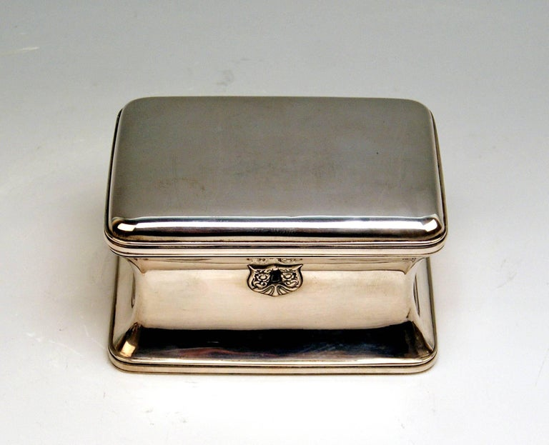 Austrian Biedermeier silver sugar box 