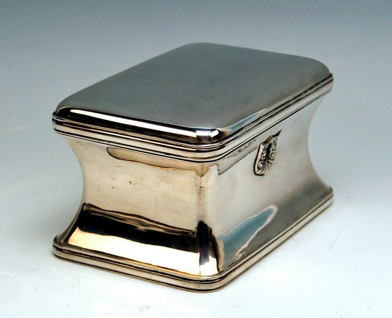 Silver 13 Lot Austrian Nice Biedermeier Sugar Box Chest Vienna Made 1849 In Excellent Condition For Sale In Vienna, AT