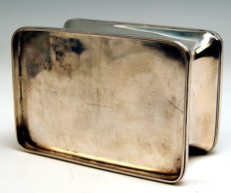 Silver 13 Lot Austrian Nice Biedermeier Sugar Box Chest Vienna Made 1849 For Sale 5