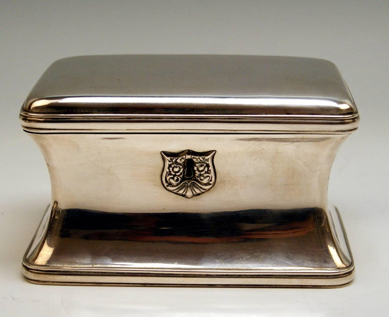 Silver 13 Lot Austrian Nice Biedermeier Sugar Box Chest Vienna Made 1849 For Sale 6