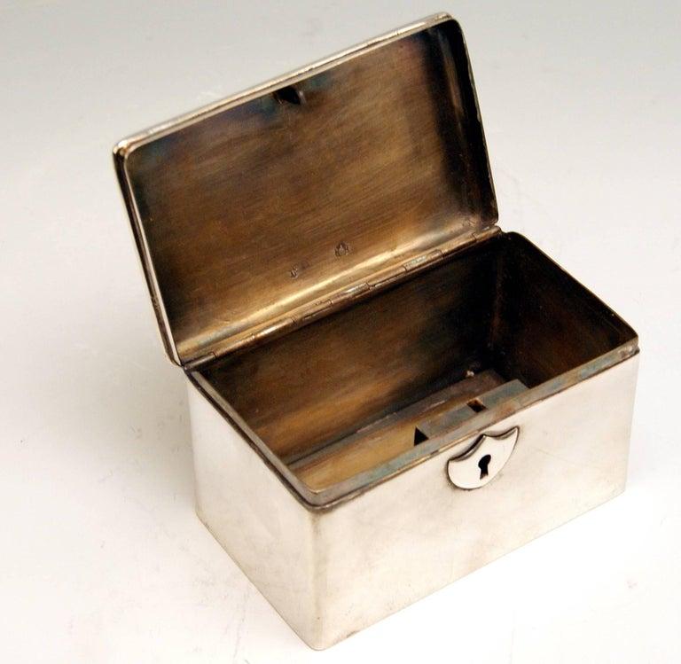 Mid-19th Century Austrian Biedermeier Silver Sugar Box, Vienna, Josef Wiederspeck, 1839 For Sale