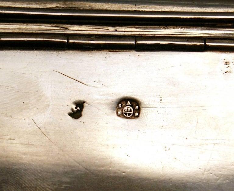 Austrian Biedermeier Silver Sugar Box, Vienna, Josef Wiederspeck, 1839 For Sale 2