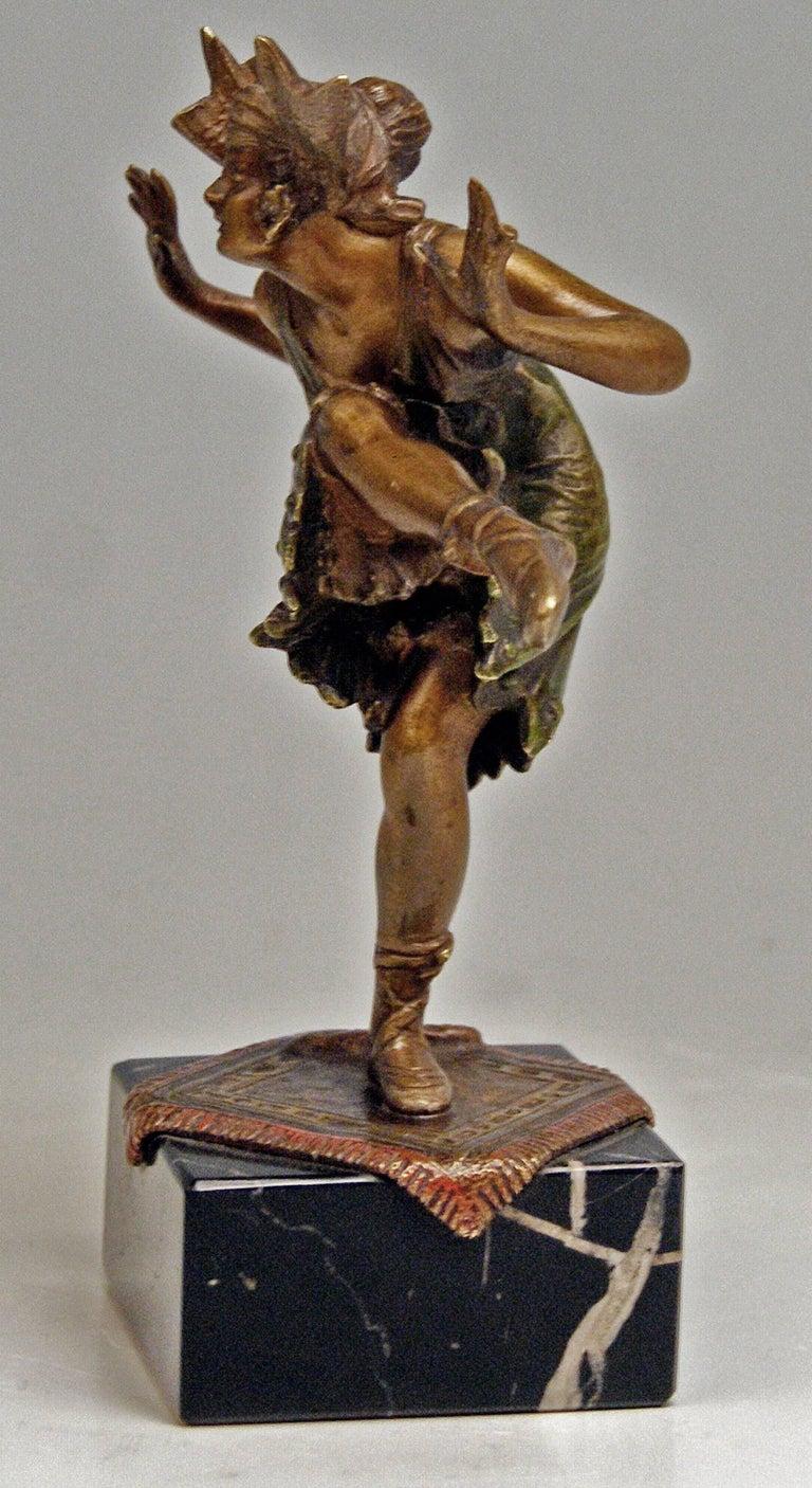Austrian Vienna Bergman'N' Bronze Lady Dancer Bruno Zach Made circa 1925-1930 For Sale