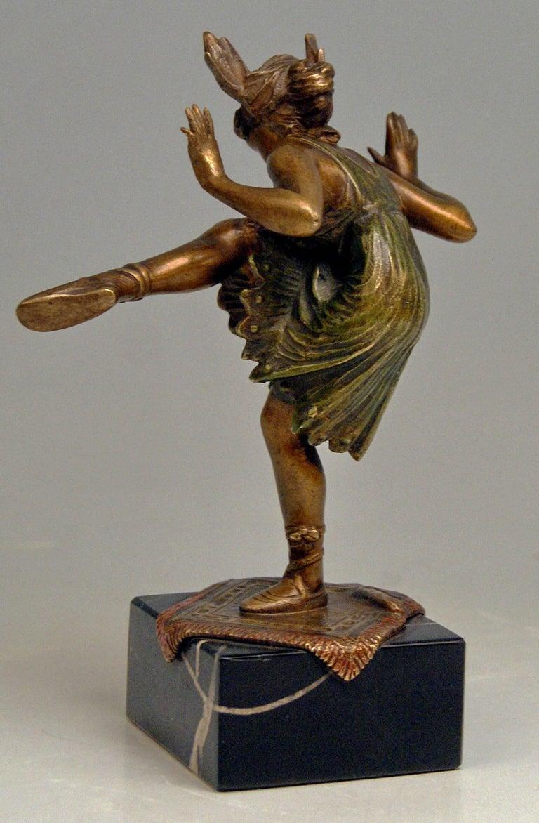 Other Vienna Bergman'N' Bronze Lady Dancer Bruno Zach Made circa 1925-1930 For Sale