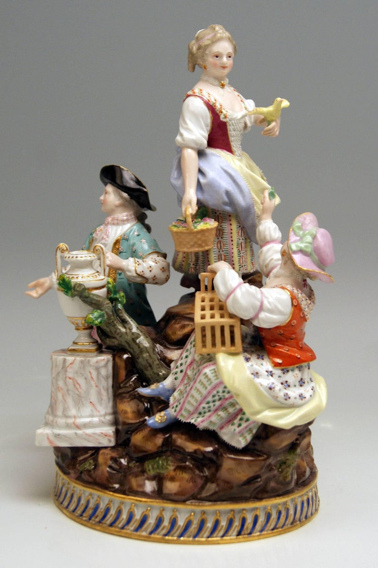 Meissen stunning figurine group: gardener figurines