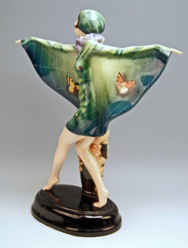 Goldscheider Vienna Lorenzl Dancing Butterfly Lady Captured Bird Nr.5230 2