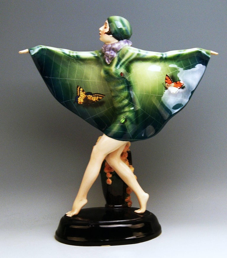 Goldscheider Vienna Lorenzl Dancing Butterfly Lady Captured Bird Nr.5230 For Sale 1