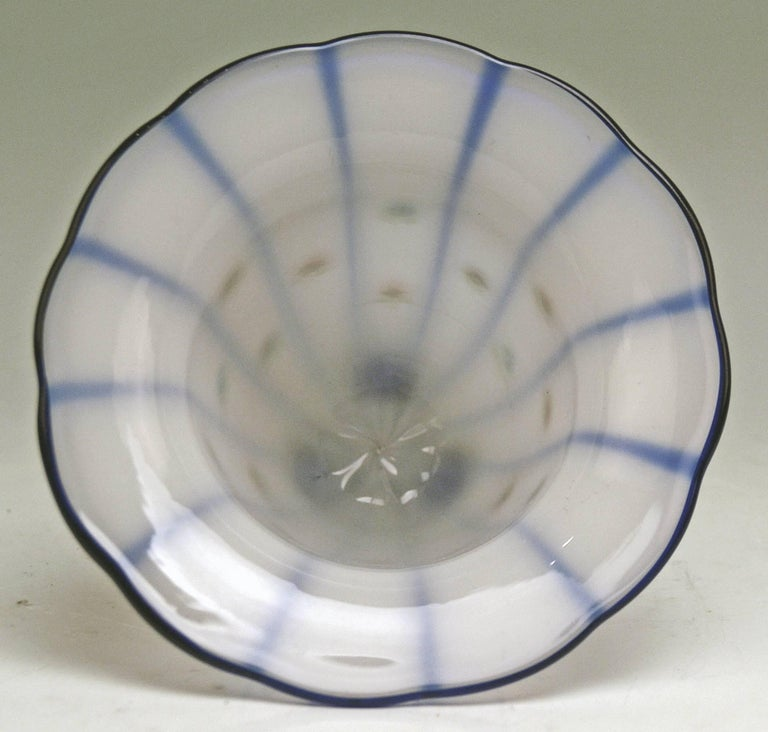 Austrian Art Nouveau Loetz Klostermuehle Bohemia Tango Vase Production Number 597 For Sale