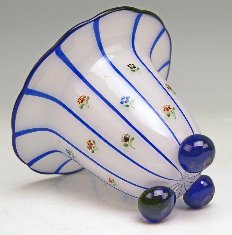 Painted Art Nouveau Loetz Klostermuehle Bohemia Tango Vase Production Number 597 For Sale
