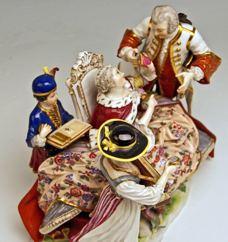 Meissen Gallant Figurines the Sale of Heart Box Model 100, Kaendler, circa 1860 8