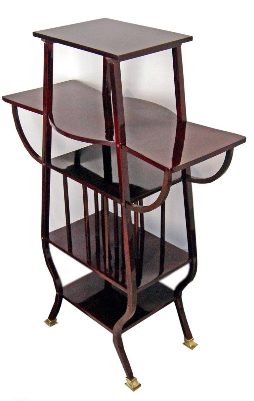 Thonet Art Nouveau Shelves Side Table Étagère Bentwood Vienna Made, circa 1900 3